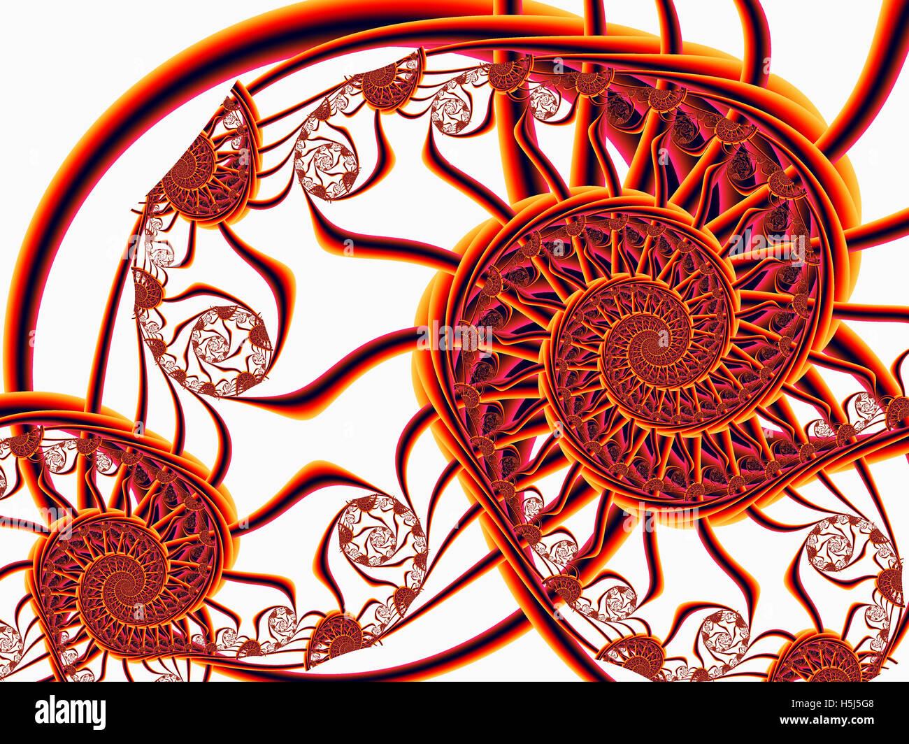 Spiral Fractal Patterns - Stock Image