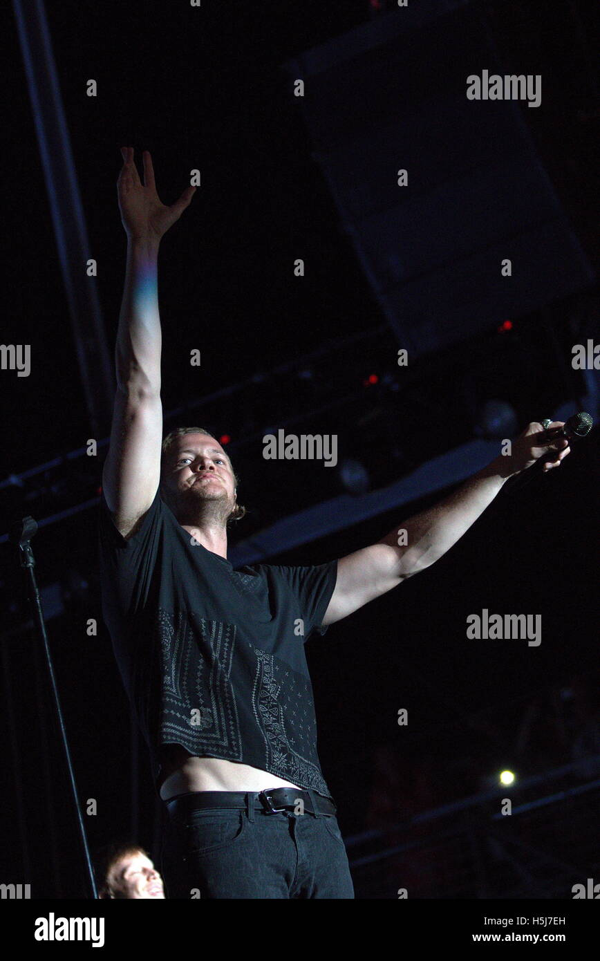 Singer Dan Reynolds of Imagine Dragons performs at Life is Beautiful Music Festival Day 2 on September 26th, 2015 - Stock Image
