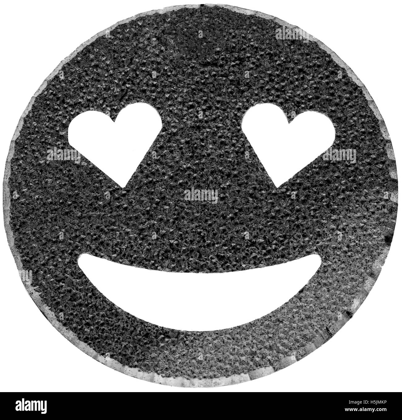 Emoticon With Smiley Face Black And White Stock Photos Images Alamy