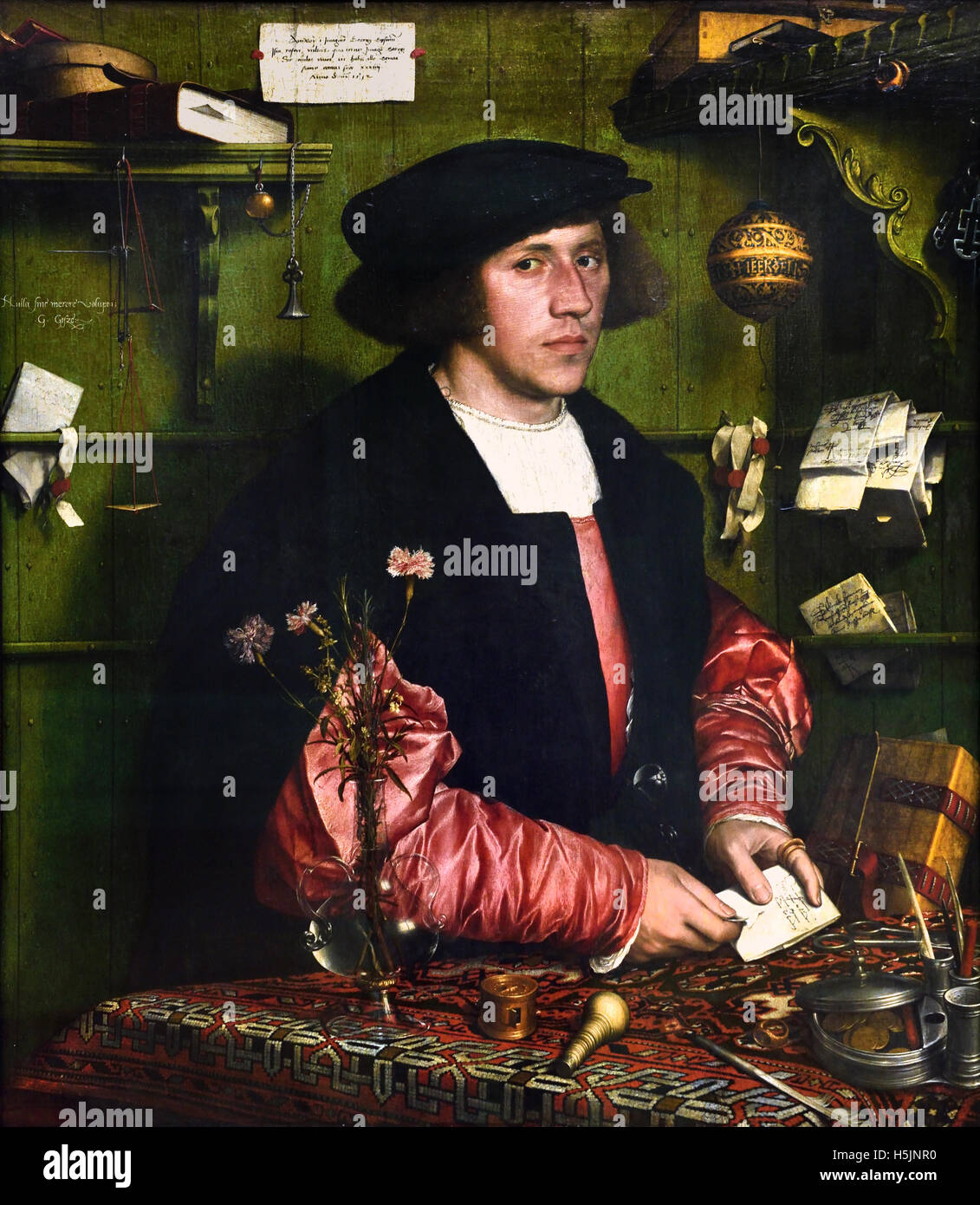 Der Kaufman - The businessman Georg Gisze 1532 Hans Holbein the younger (1497–1543 ) German Germany - Stock Image