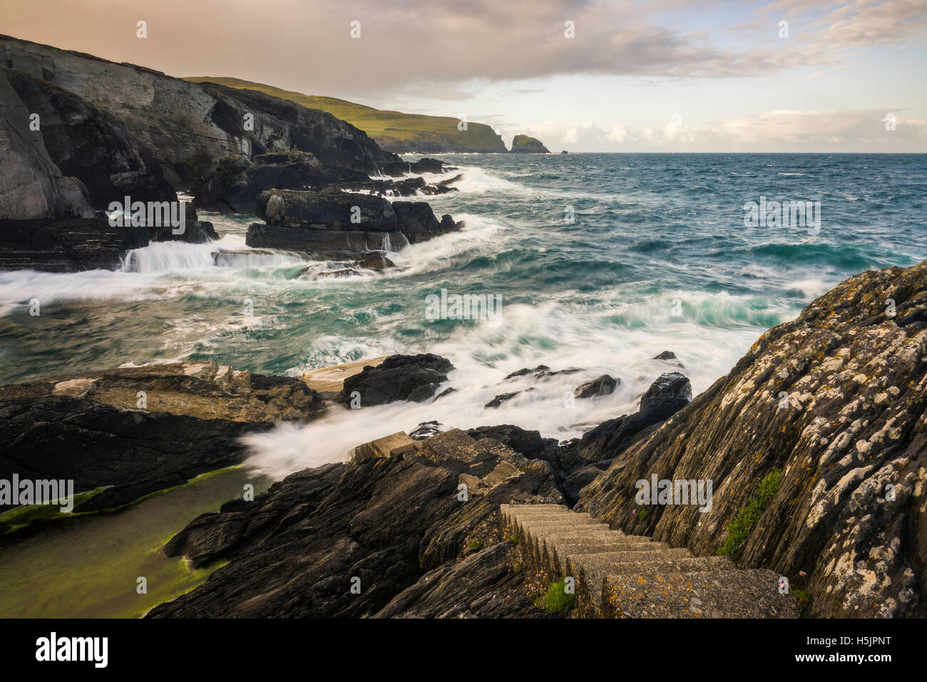 Sea view at West Cork, Ireland - Stock Image
