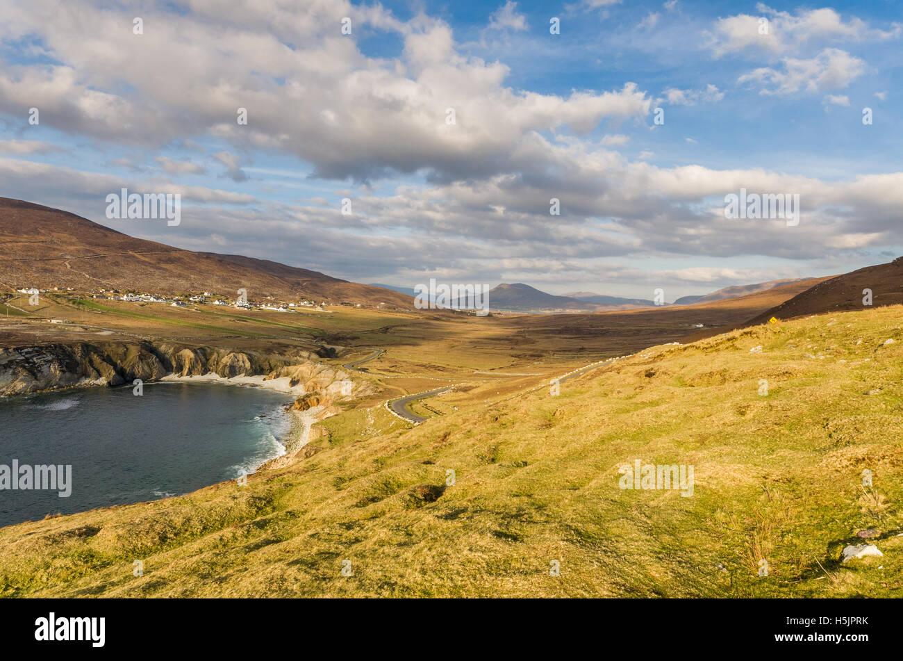 Atlantic road on Achill Island, County Mayo, Ireland. - Stock Image