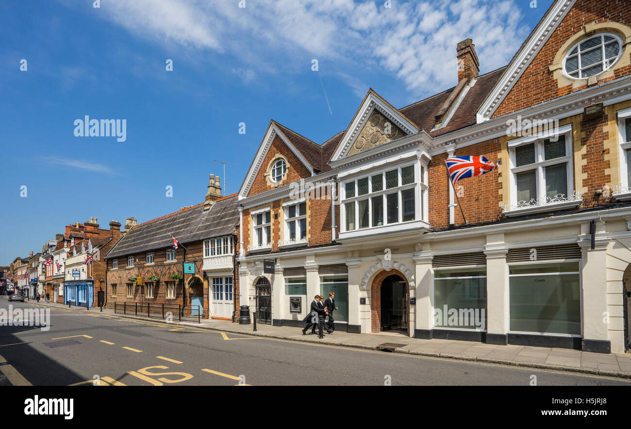 Great Britain, England, Berkshire, Eton High Street - Stock Image