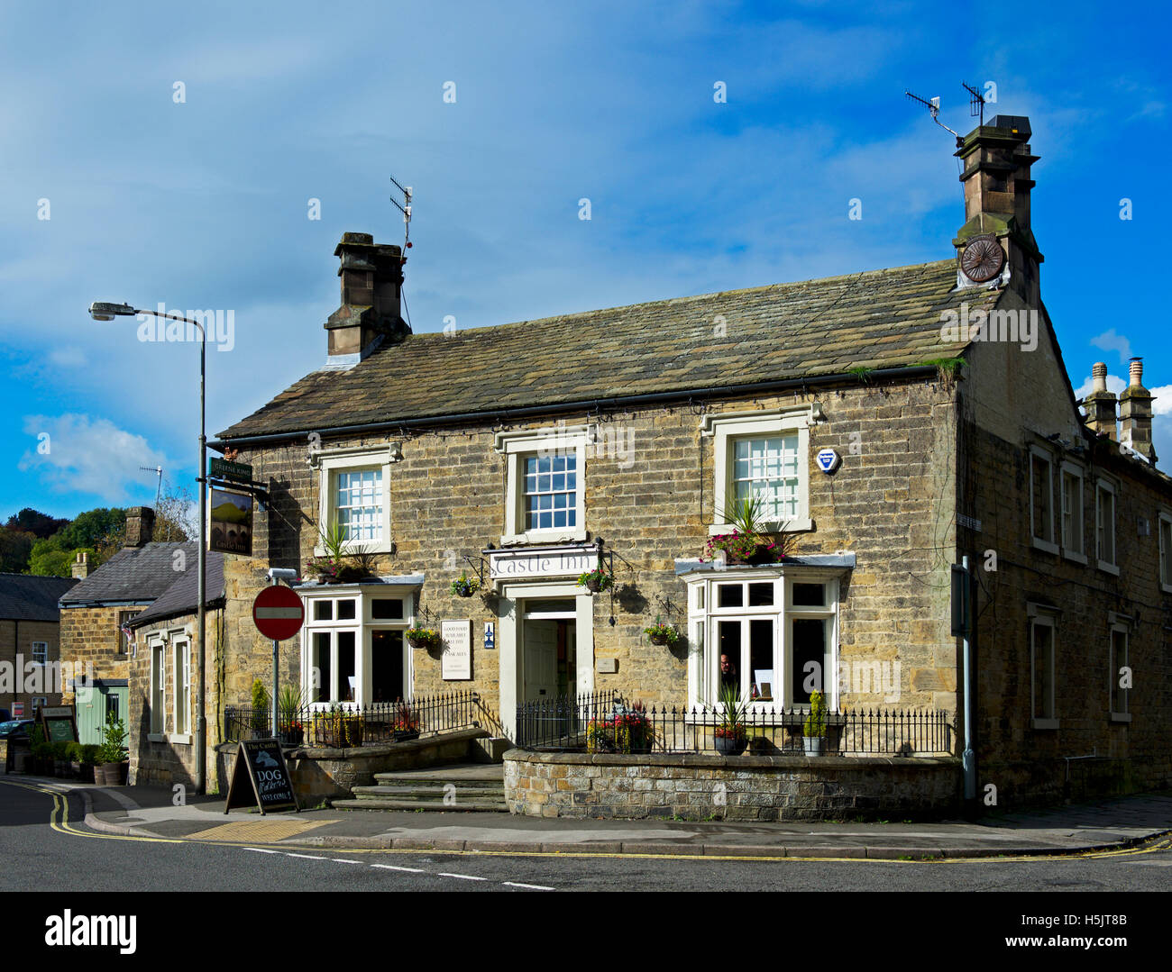 The Castle Inn, Bakewell, Derbyshire, England UK - Stock Image