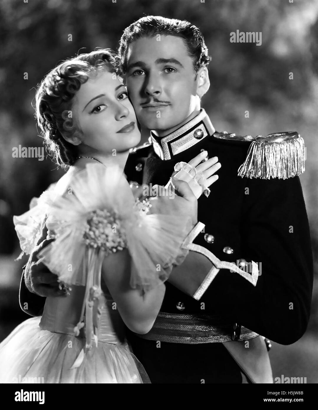 THE CHARGE OF THE LIGHT BRIGADE 1936 Warner Bros film with Errol Flynn and Olliva de Havilland - Stock Image