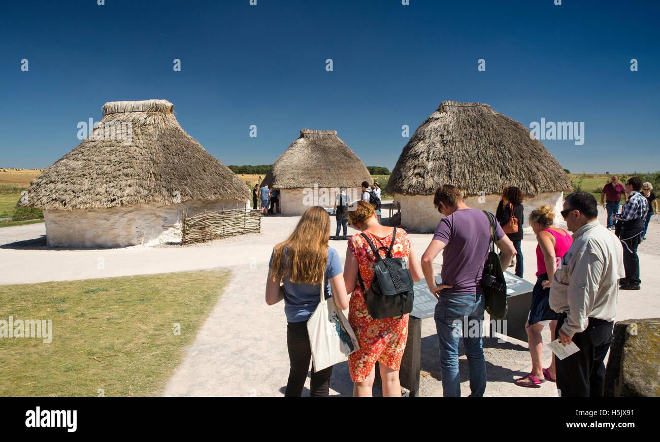 UK, England, Wiltshire, Stonehenge Visitor Centre visitors