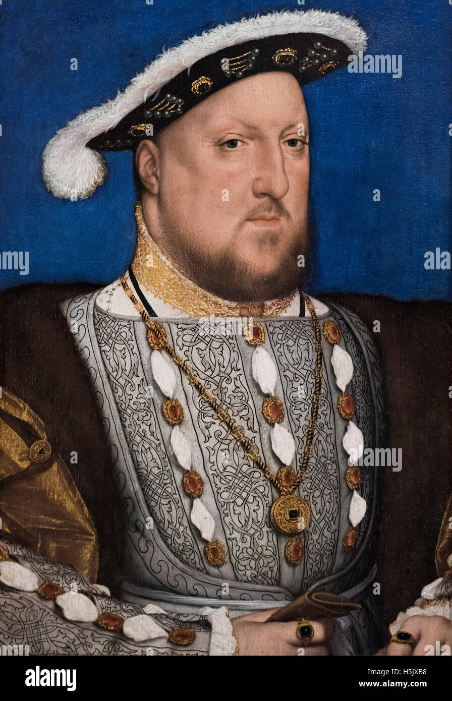 Hans Holbein the Younger (1497/98-1543), Portrait of King Henry VIII (1491-1547), ca. 1534-1536. - Stock Image