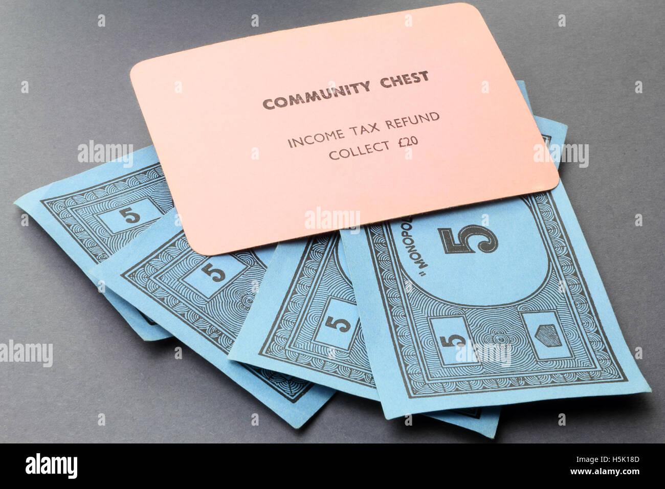 Vintage British Monopoly game (Community Chest card - tax refund ...