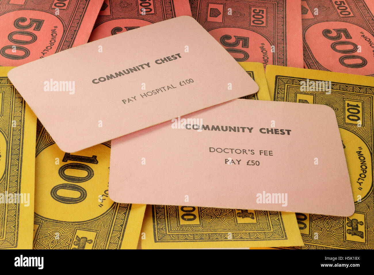 Vintage british monopoly game community chest cards for medical vintage british monopoly game community chest cards for medical fees circa 1940 bookmarktalkfo Choice Image