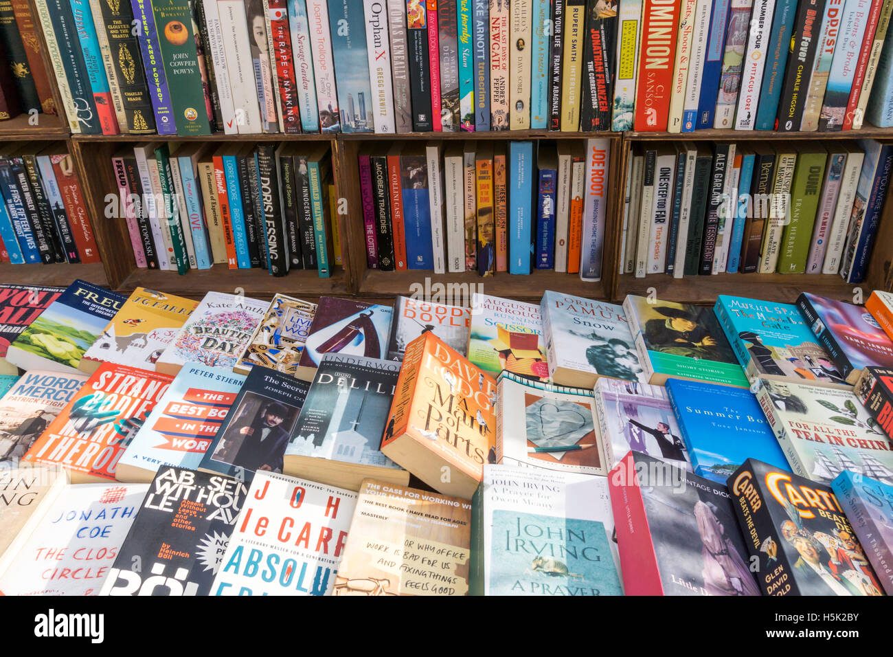 Secondhand books for sale. - Stock Image