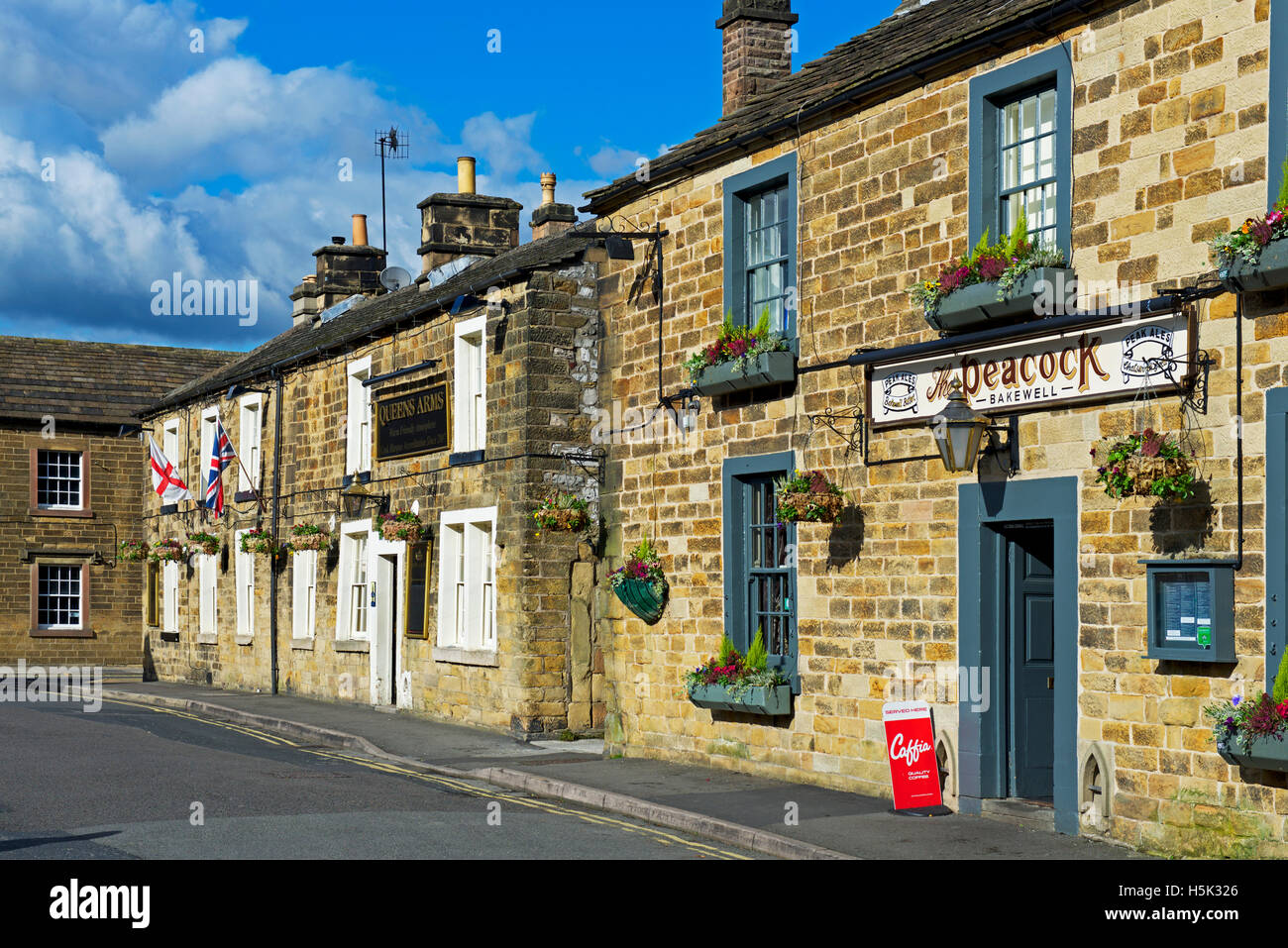 Pubs in Bakewell, Derbyshire, England UK - Stock Image