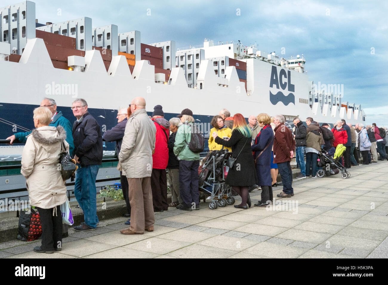 ACL 'Atlantic Sea' Royal christening, Liverpool, Merseyside, 2016, - Stock Image