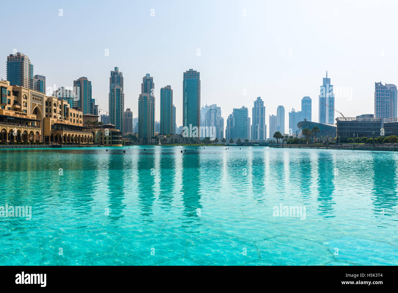 Skyline View Of The Skyscrapers And Modern Architecture Of Dubai