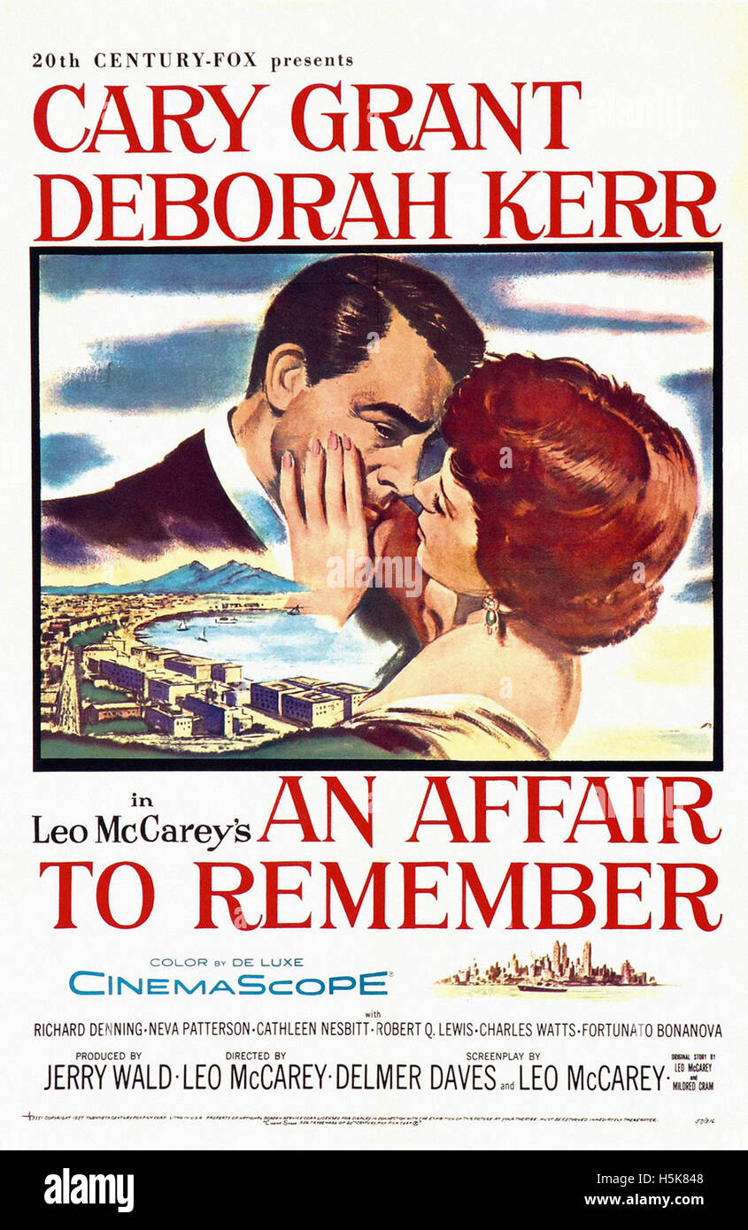 An Affair to Remember - Movie Poster - Stock Image