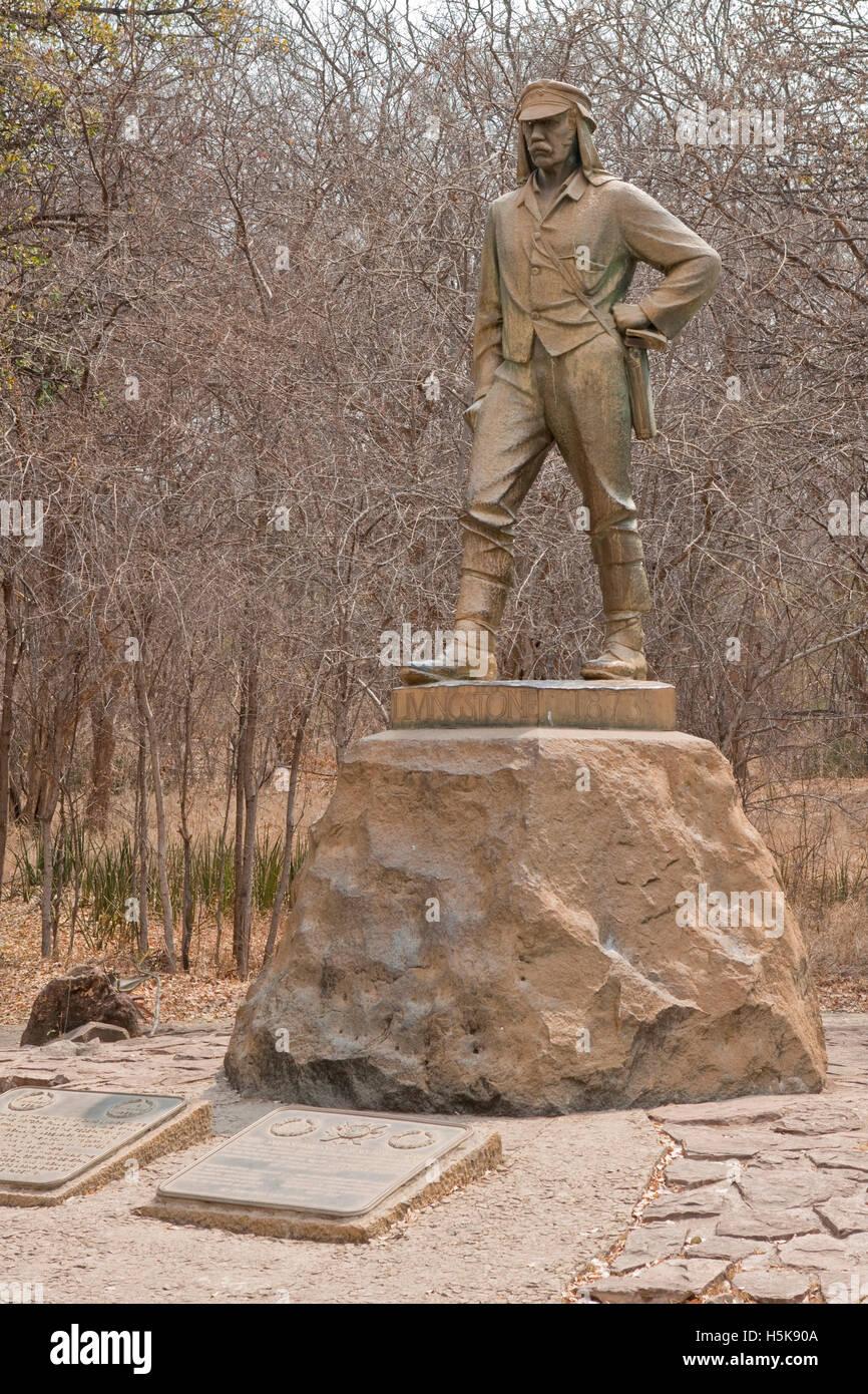 Sir David Livingston Memorial, Victoria Falls National Park, Zimbabwe, Africa - Stock Image