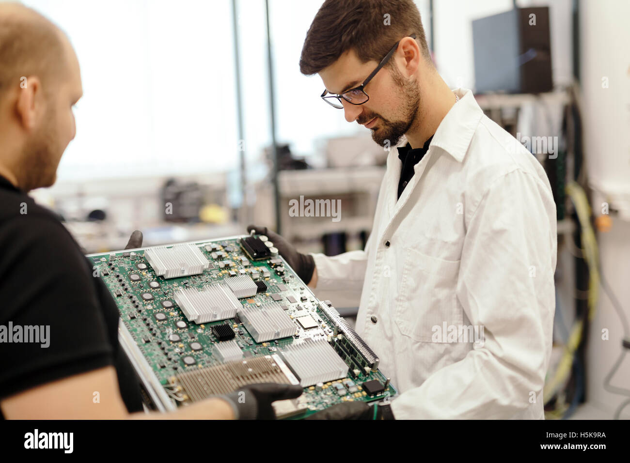 CMTS card needs to be fixed by technician Stock Photo