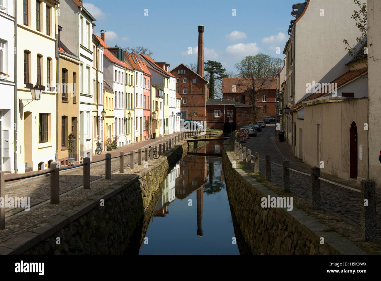Historic buildings, Wismar, Mecklenburg-Western Pomerania - Stock Image