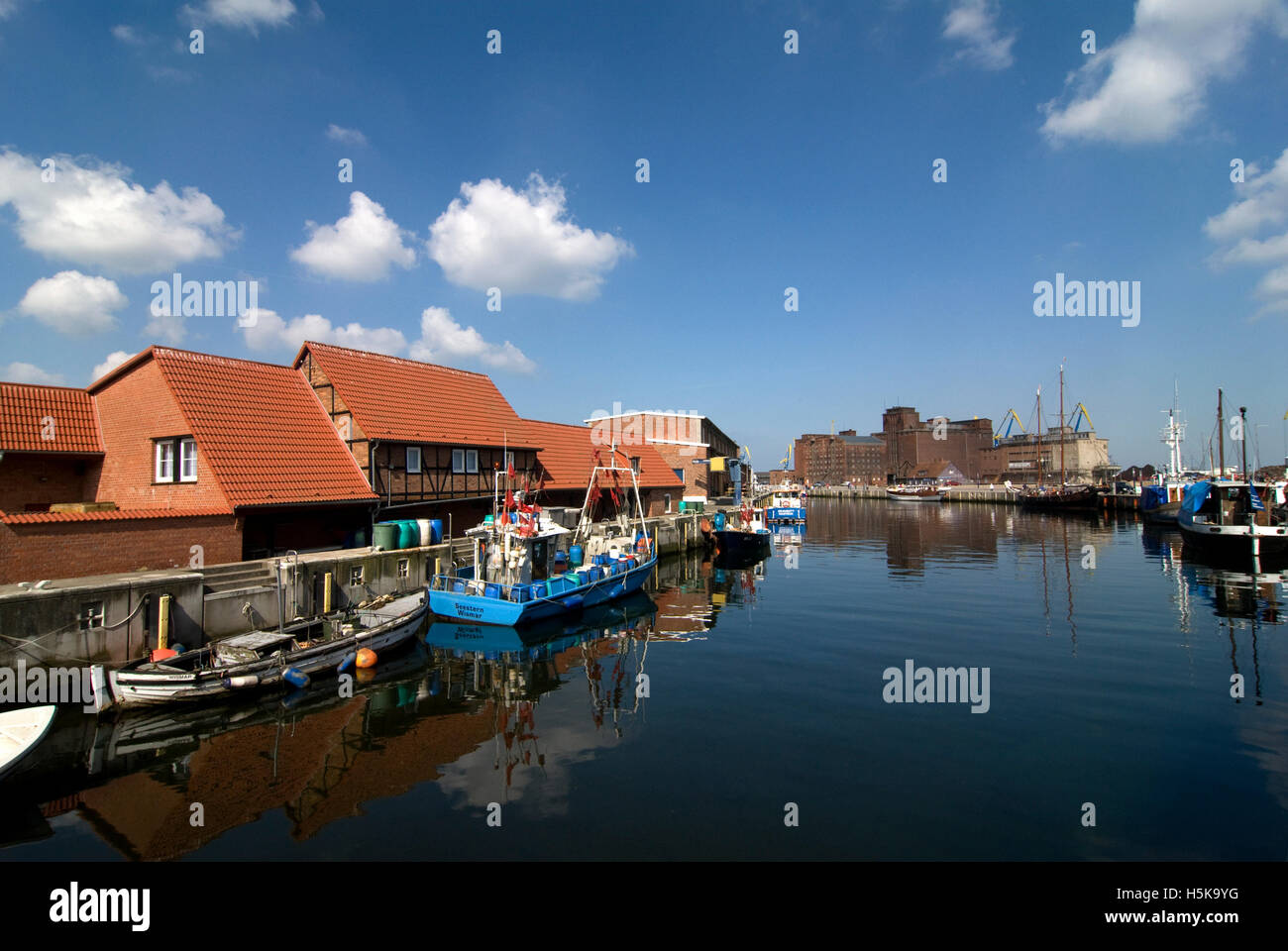 Old Port, Wismar, Mecklenburg-Western Pomerania - Stock Image