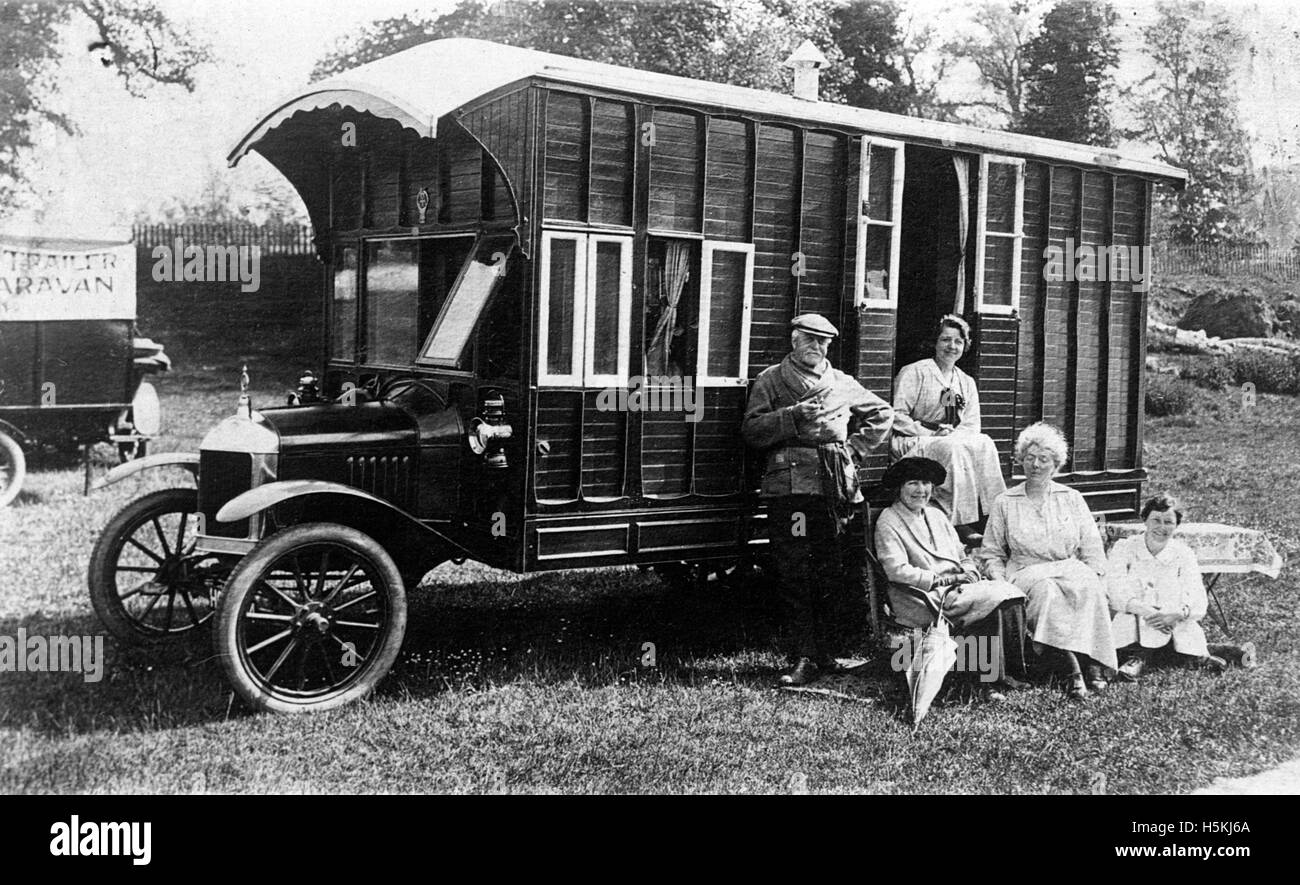 Morris Oxford 1920 camper van by Hutchings - Stock Image