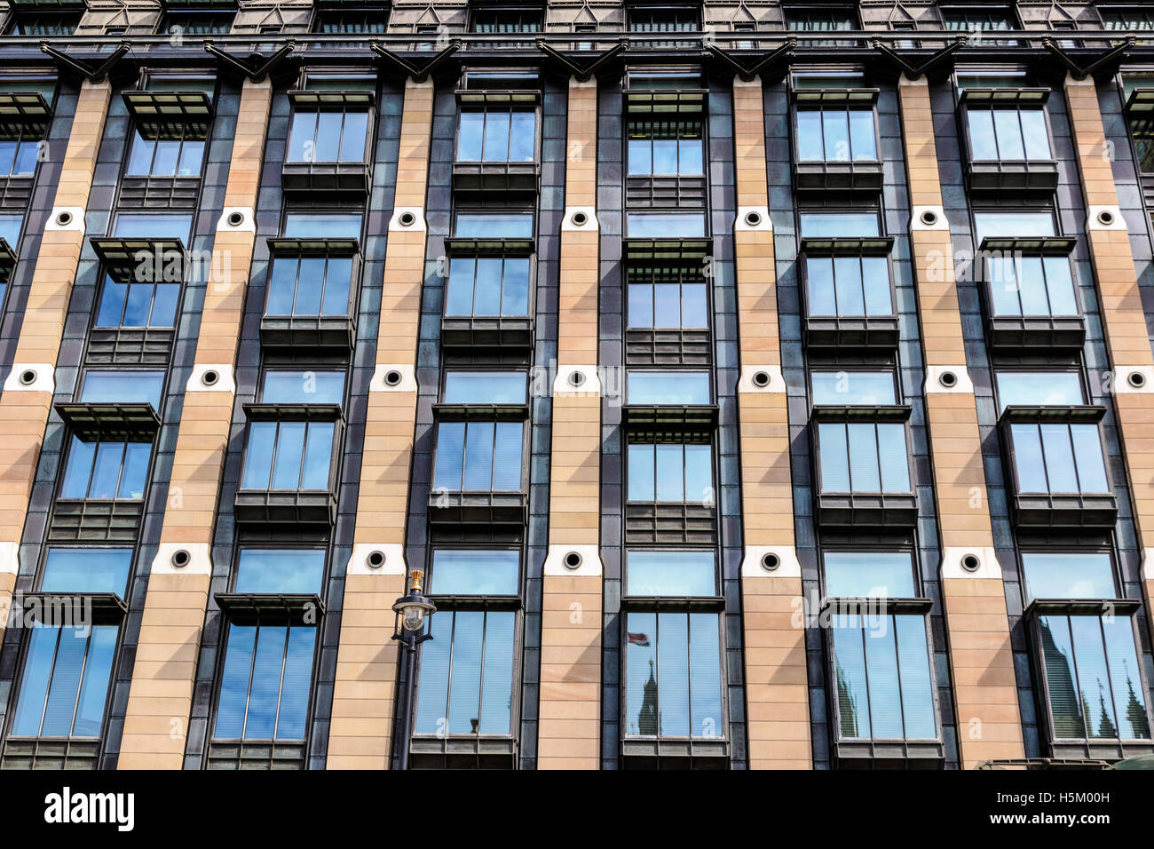 Architecture detail - the exterior of Portcullis House in London - Stock Image