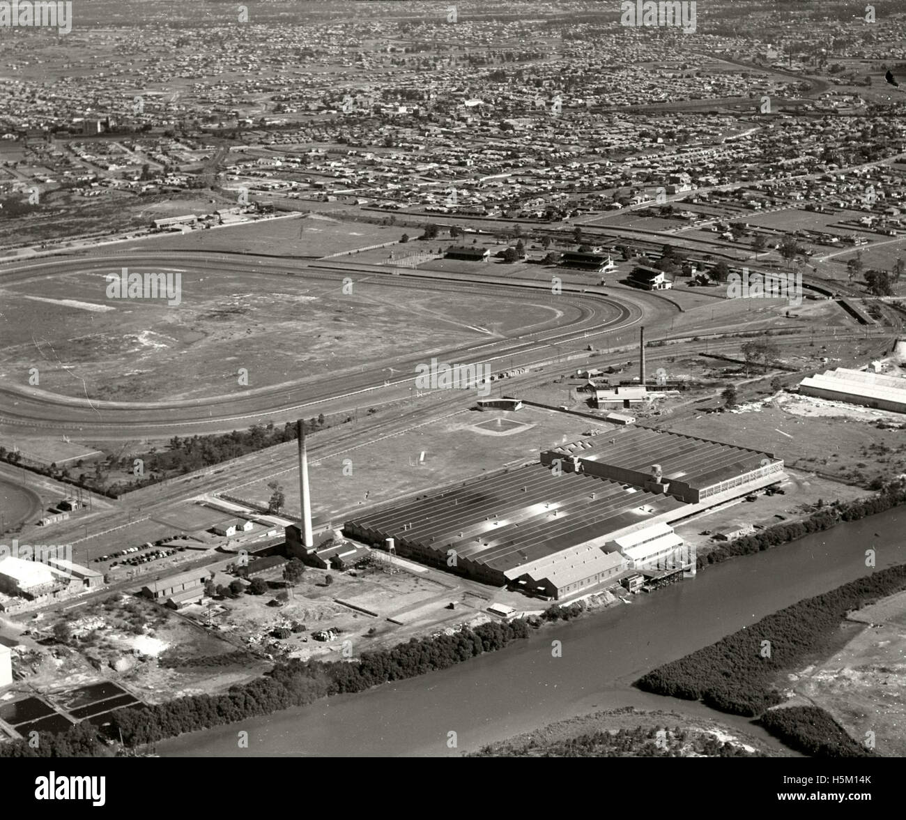 Goodyear Tyre Company Factory Granville - 13 Aug 1936 - Stock Image