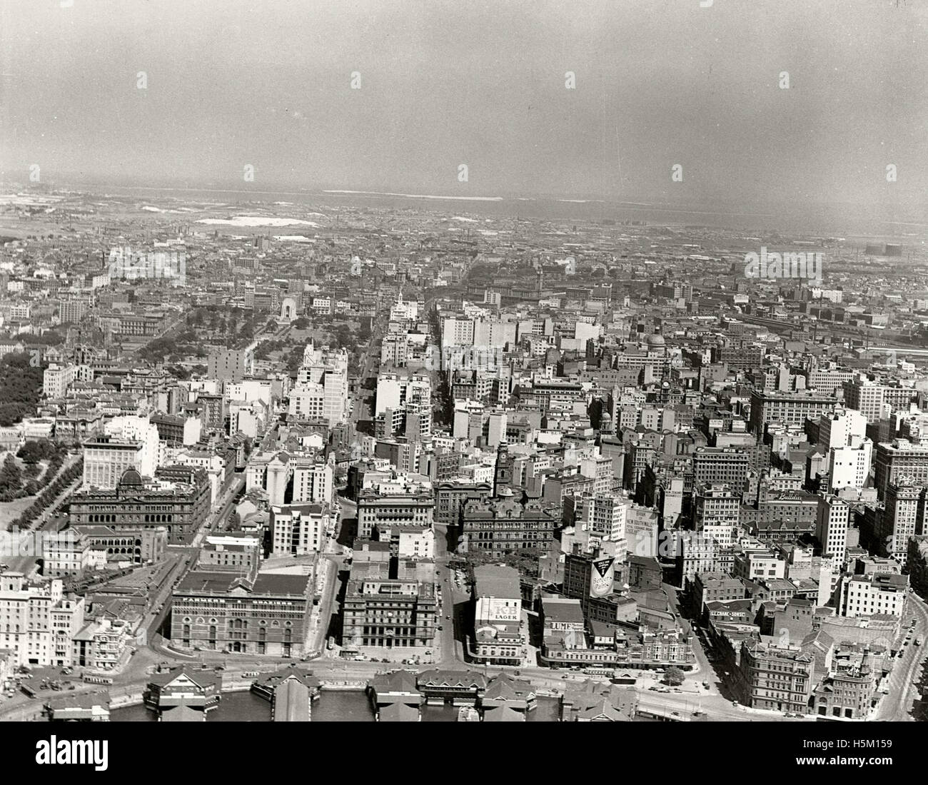 City looking south from Circular Quay - 1937 - Stock Image