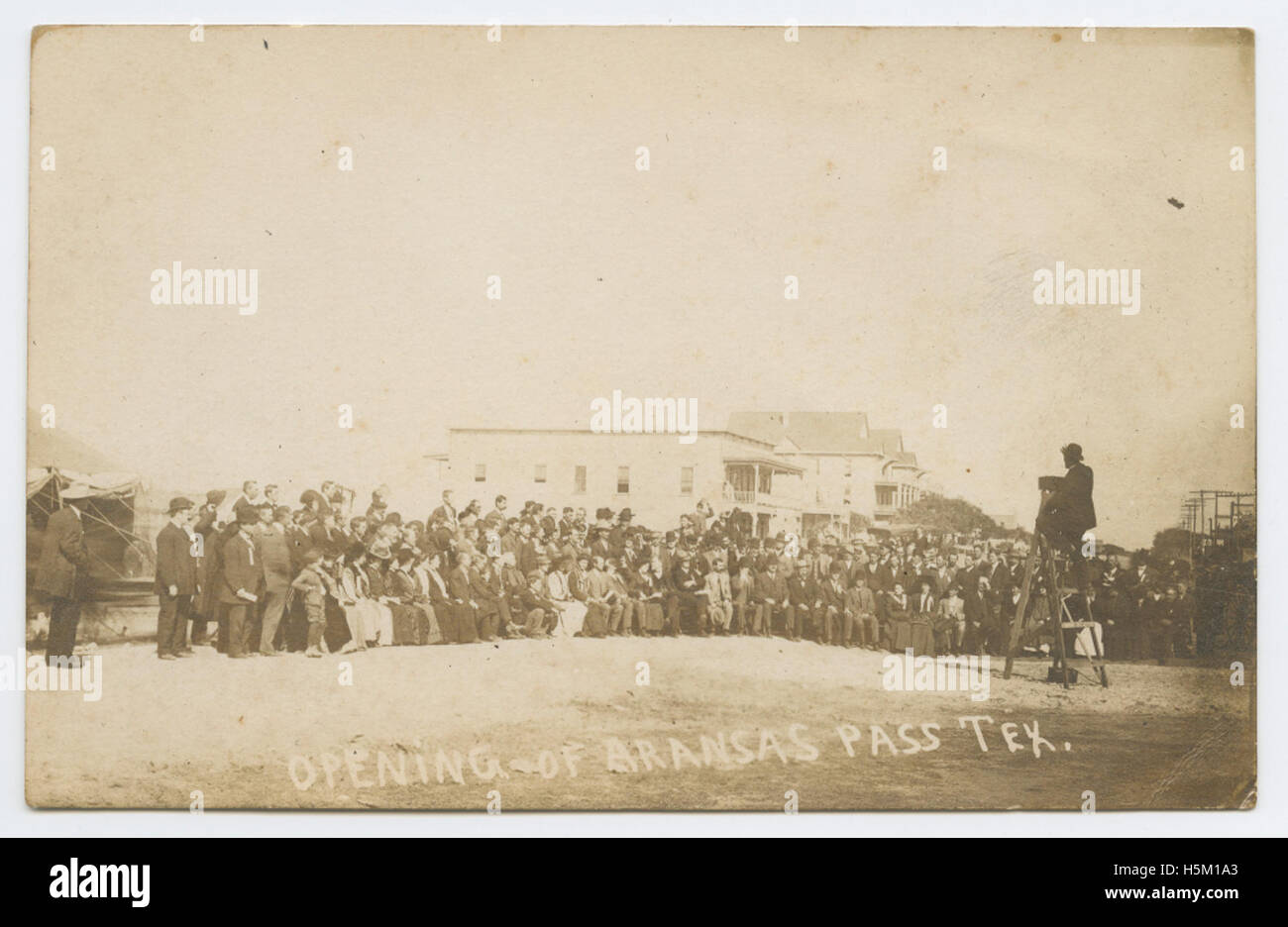 Opening of Aransas Pass, Tex - Stock Image