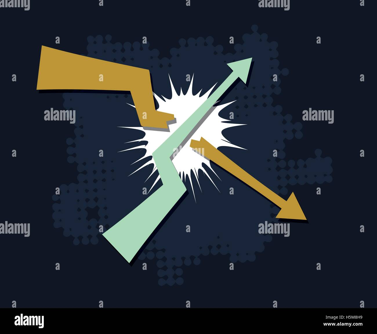 trends break symbol financial market success concept abstract vector illustration - Stock Image