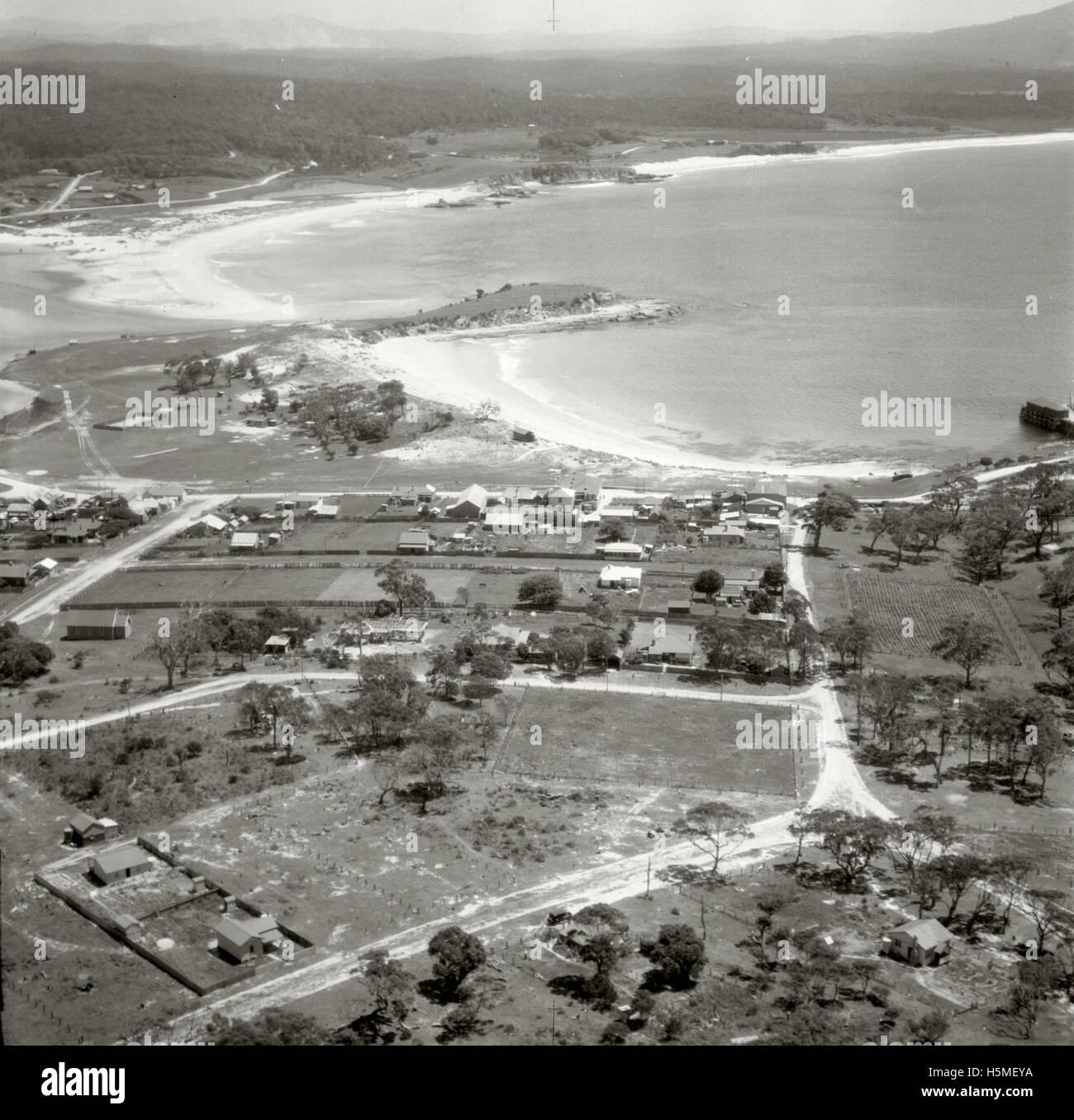 Bermagui looking North - 17 Nov 1937 - Stock Image