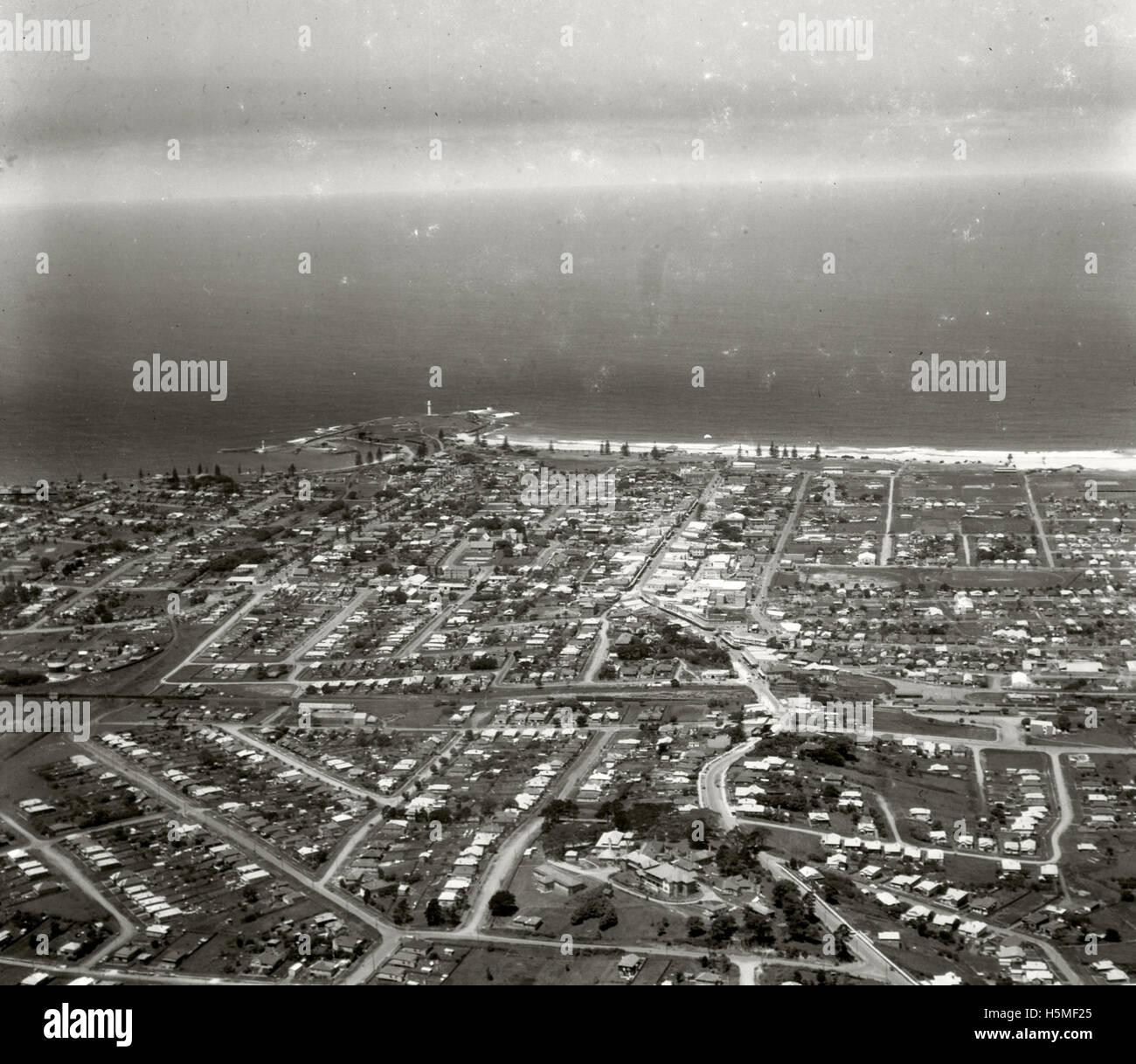 Wollongong looking east 26 November 1937 RAHS  [RAHSAdastra Aerial - Stock Image