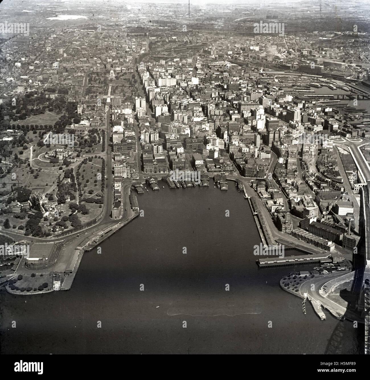 Circular Quay - 29th Sept 1935 - Stock Image