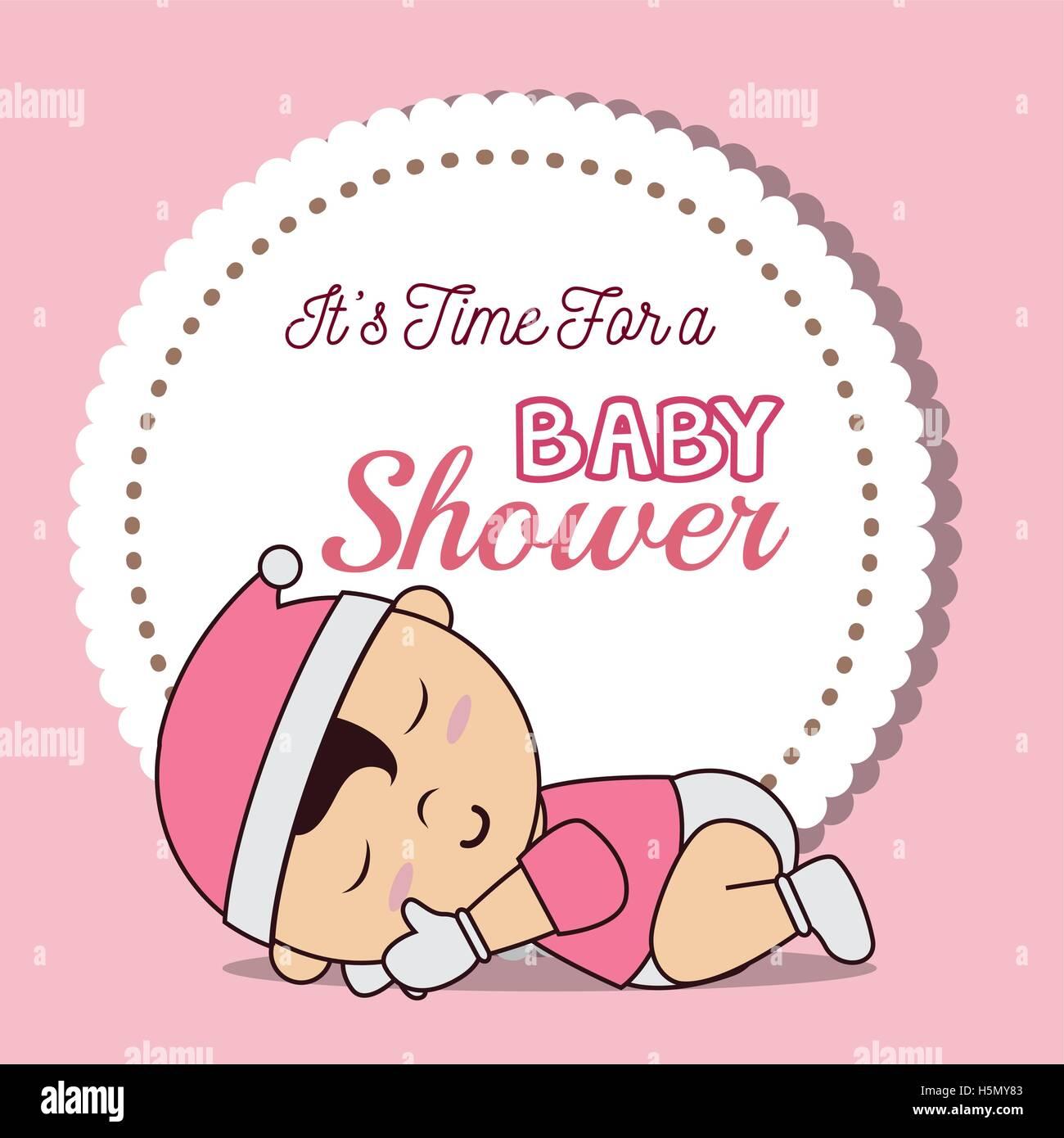 Cartoon Illustration Newborn Baby Sleeping Stock Photos & Cartoon ...