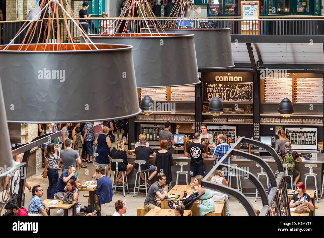 The Forks Market, Winnipeg, Manitoba, Canada. - Stock Image