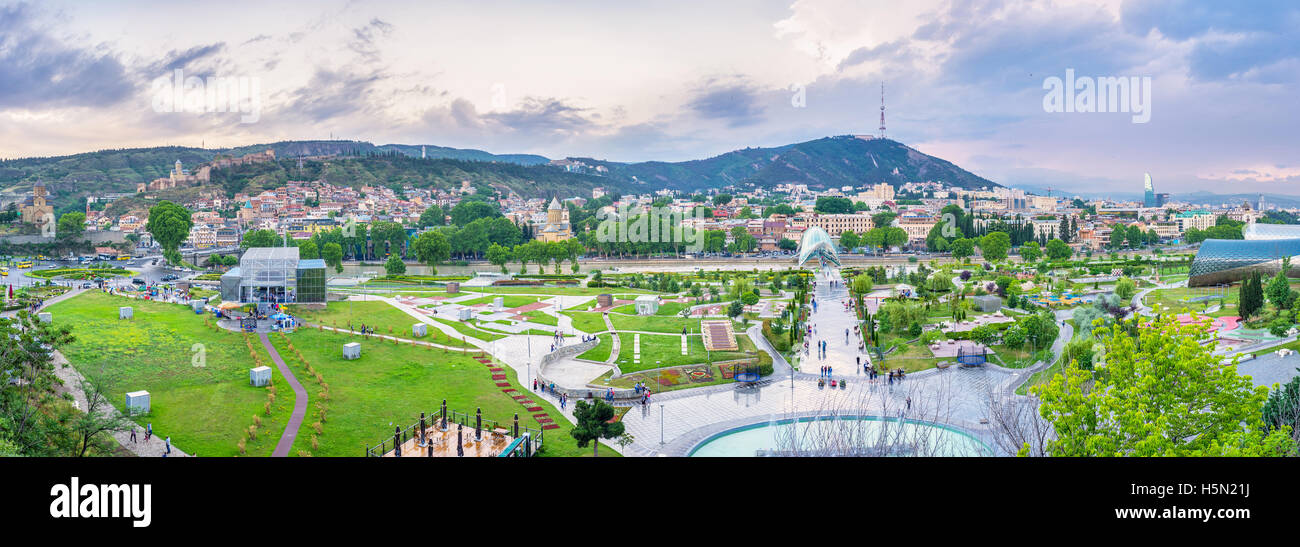 The Rike park is one of the most popular sites in city, with many tourist attractions - Stock Image