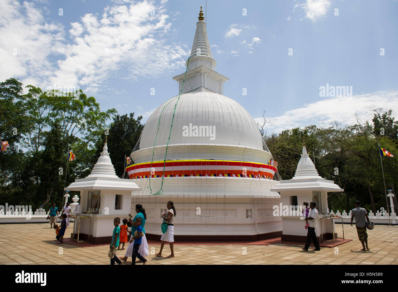 Stupa at Maligawila, Sri Lanka - Stock Image