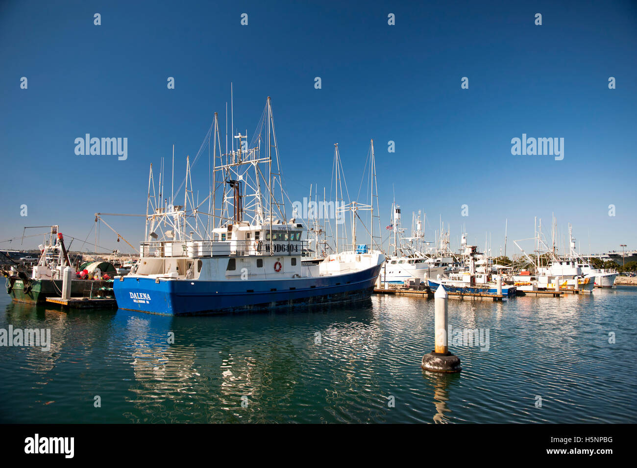 San Diego California Boating Marina - Stock Image
