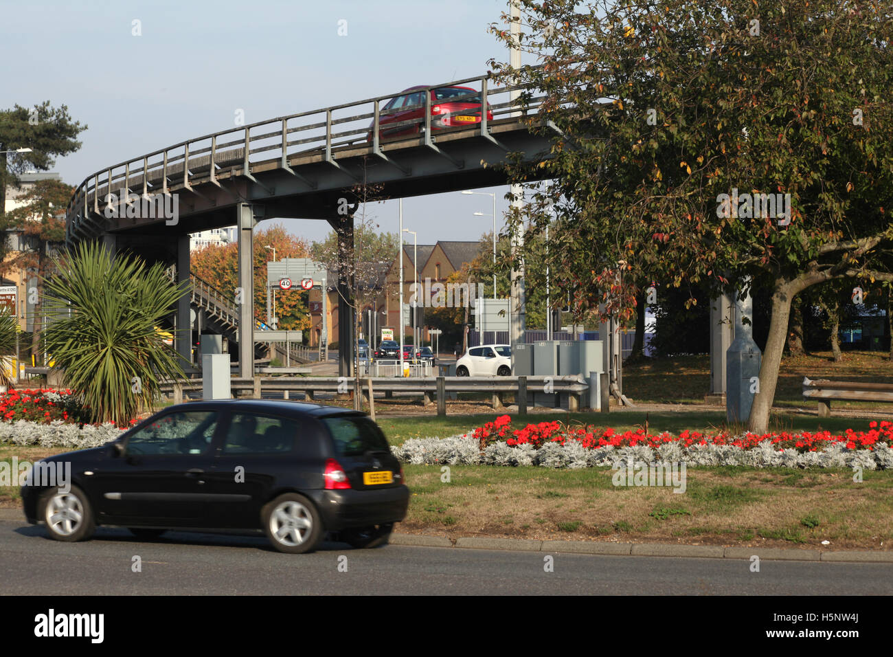 Army & Navy flyover and roundabout, Chelmsford, Essex - Stock Image