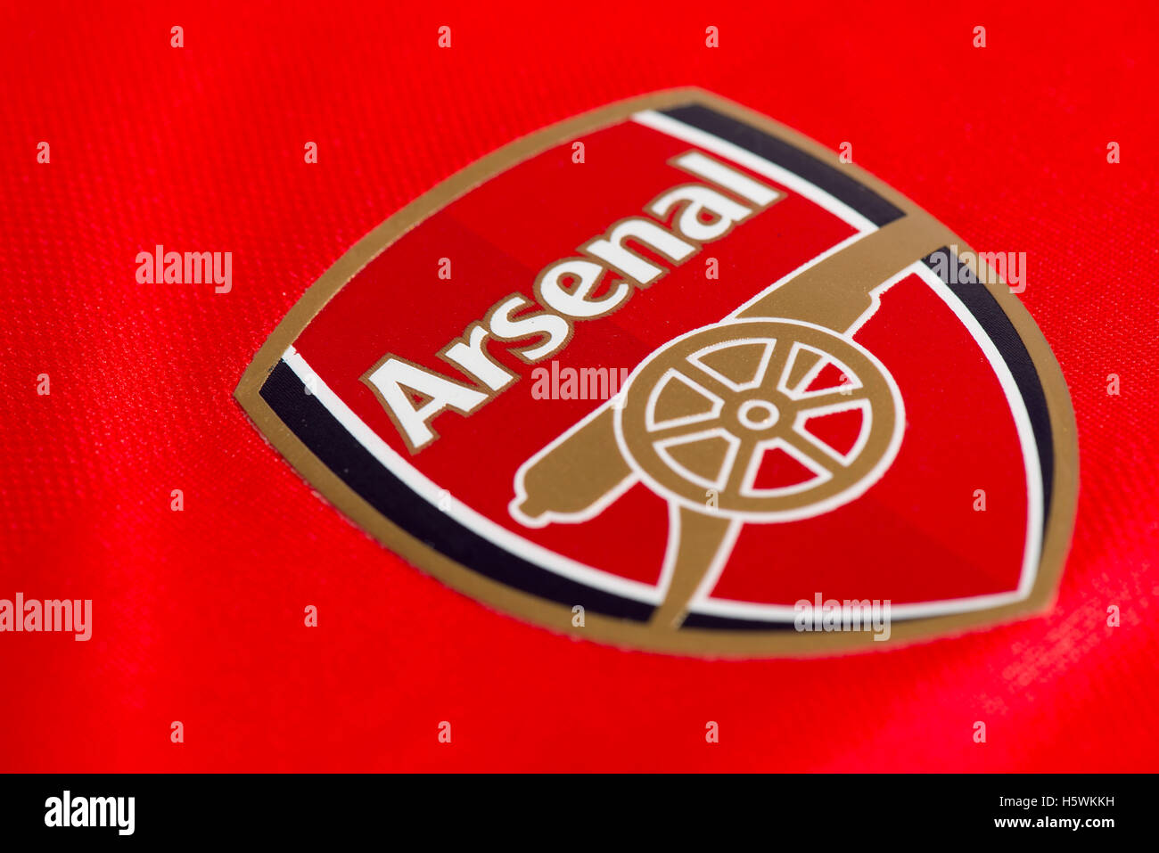 Premier League Arsenal football club badge Stock Photo