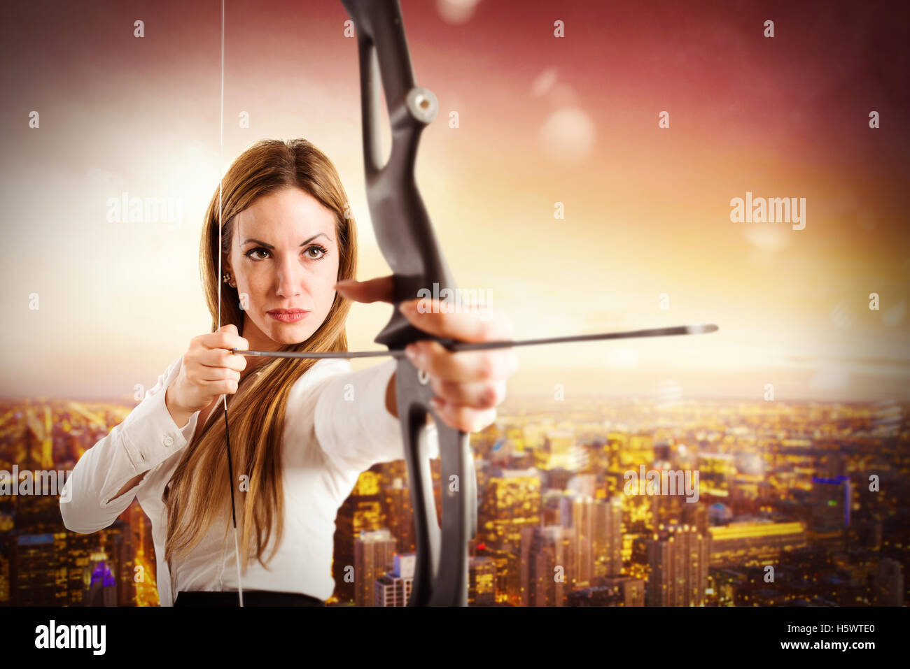 Point to success in business - Stock Image