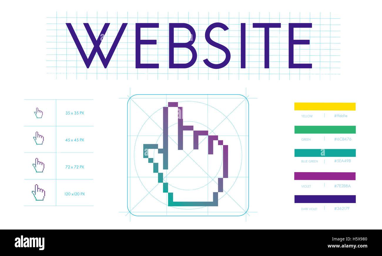 Links Seo Webinar Hand Cyberspace Concept - Stock Image