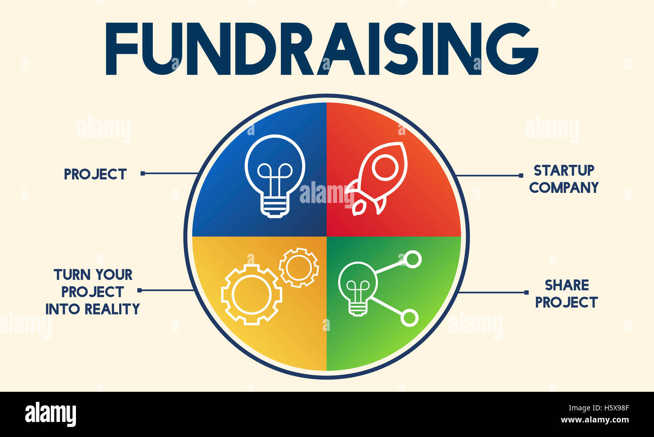 Fundraising Capital Donation Funds Support Concept - Stock Image