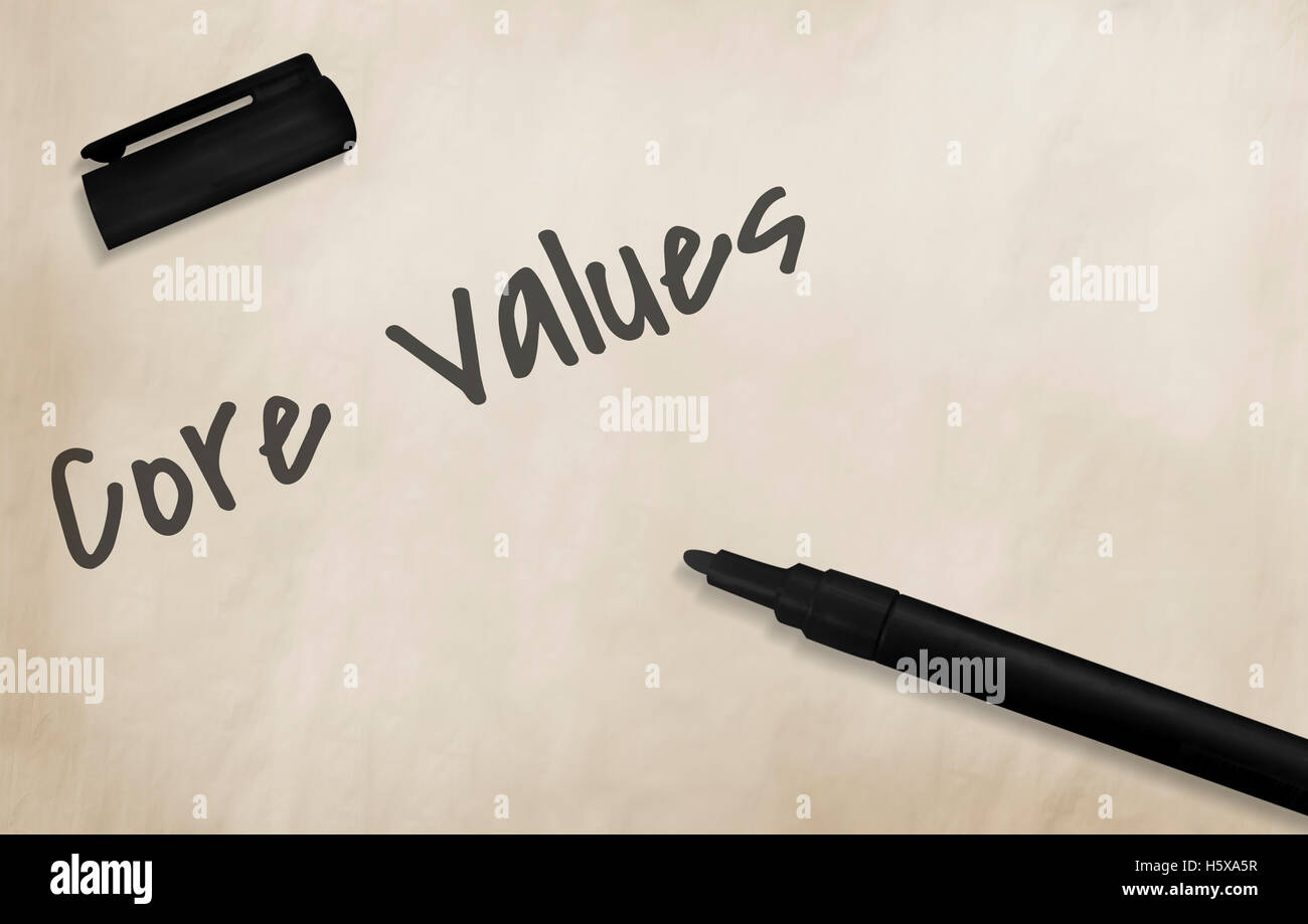 Core Values Vision Mission Concept - Stock Image