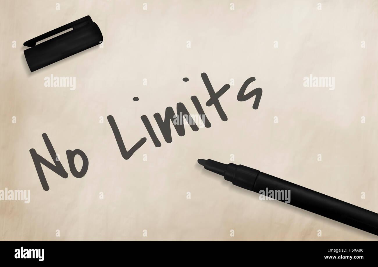 No Limits Ideas Work Concept - Stock Image