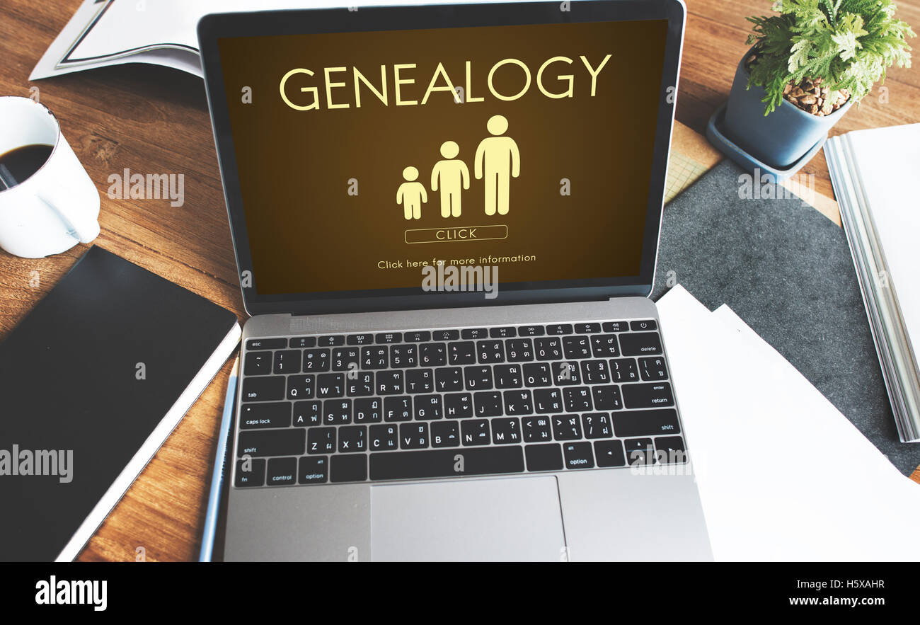 Genealogy Family Generations Relationship Concept - Stock Image