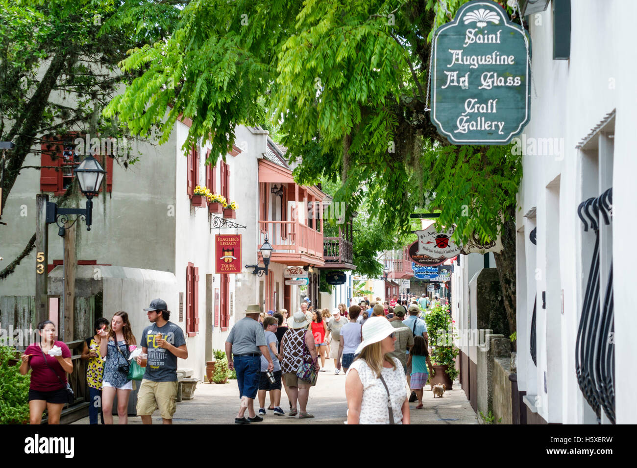 942ed16c0 St Augustine Shopping Street Stock Photos   St Augustine Shopping ...
