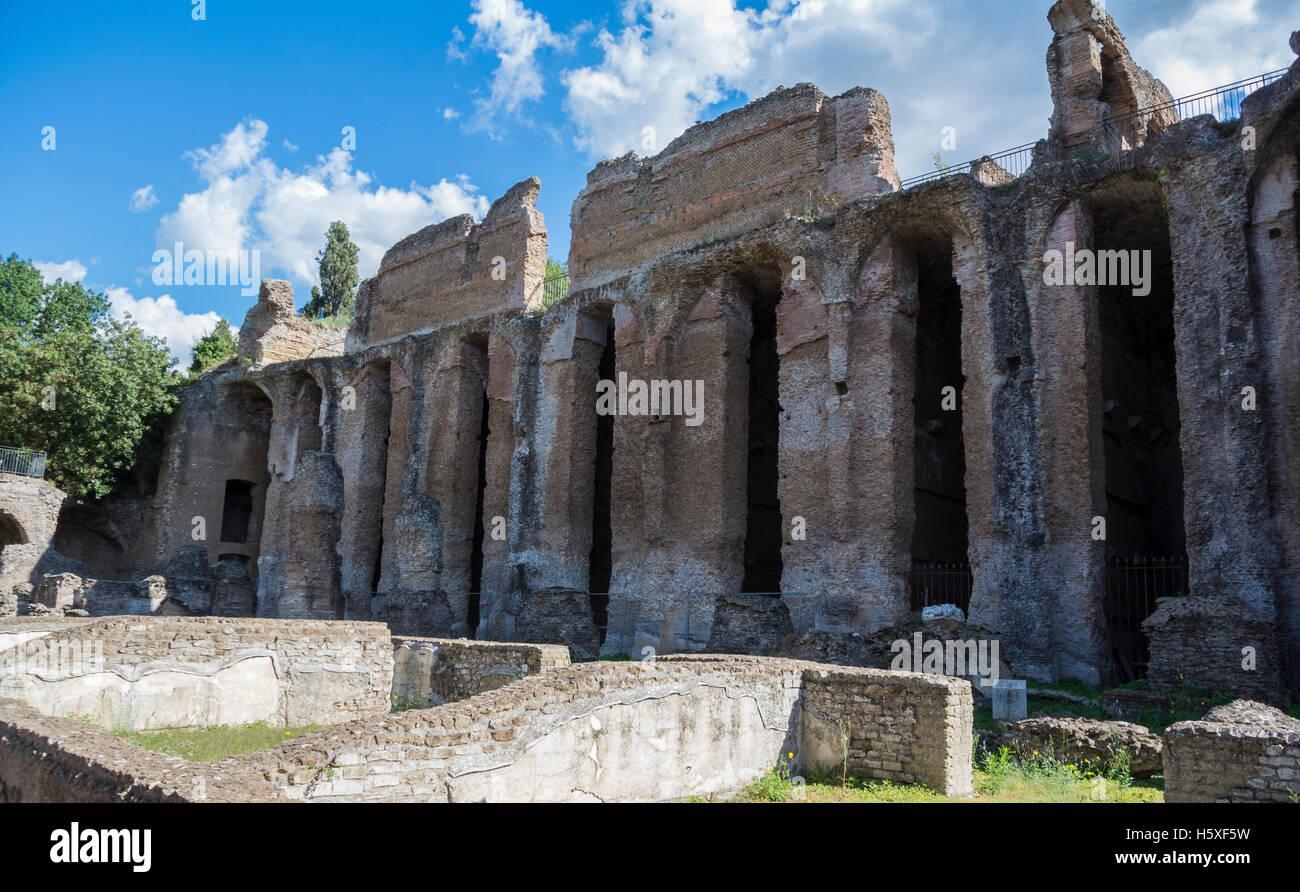 Pretorio Villa Adriana Tivoli Italy - Stock Image
