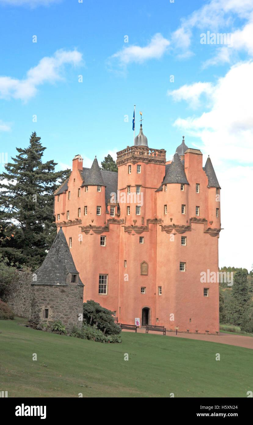 A view of Craigievar Castle, near Alford, Aberdeenshire, Scotland, United Kingdom. - Stock Image
