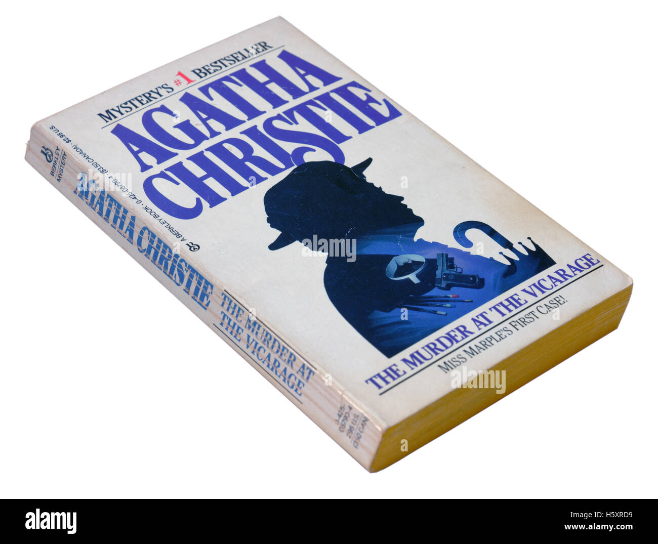 The Muder at the Vicarage by Agatha Christie - Stock Image