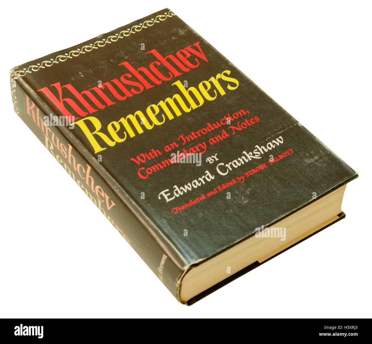 Khrushchev Remembers autobiography of Nikita Khrushchev - Stock Image