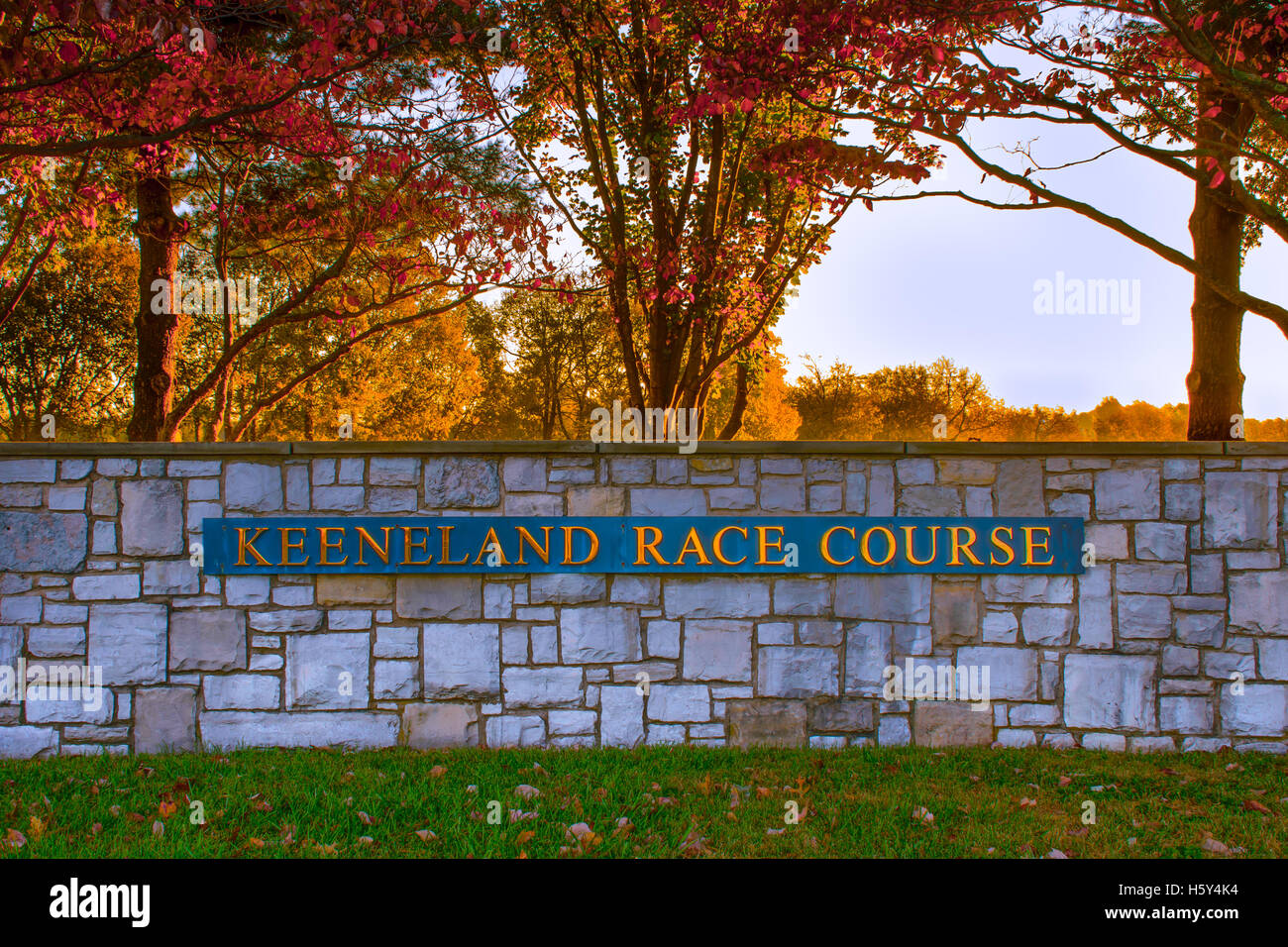 Lexington, Kentucky, USA - Oct. 17, 2016: Keeneland is a premier thoroughbred horse racing and sales facility in - Stock Image
